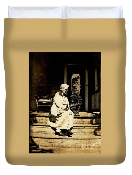 Duvet Cover featuring the photograph Grandma Jennie by Paul W Faust - Impressions of Light