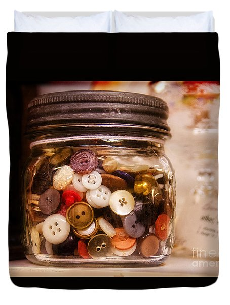 Grandma's Button Jar Duvet Cover