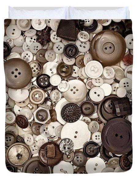 Grandmas Buttons Duvet Cover