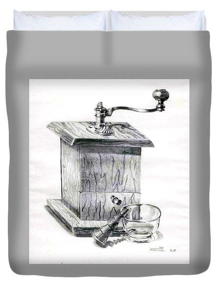 Grandma's Coffee Grinder Duvet Cover