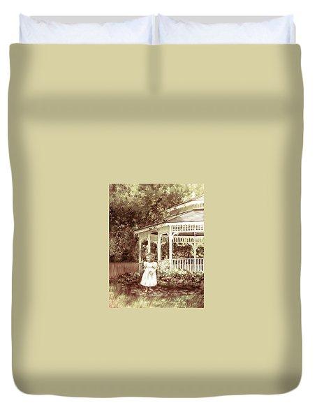 Grandmas' Garden Duvet Cover by Bonnie Willis