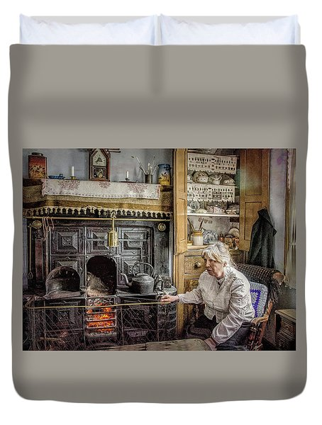 Grandma's Grate Duvet Cover