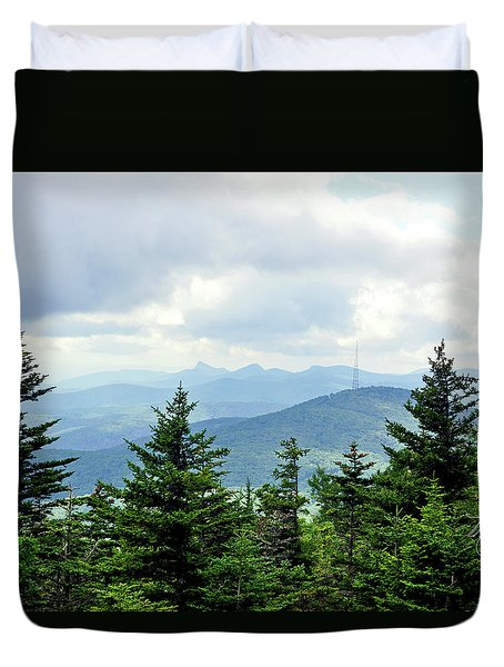 Duvet Cover featuring the photograph Grandmother Mountain by Meta Gatschenberger