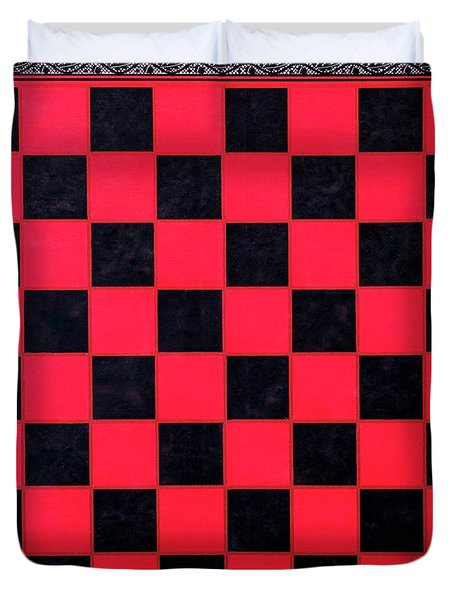 Grandpa's Checkerboard Duvet Cover
