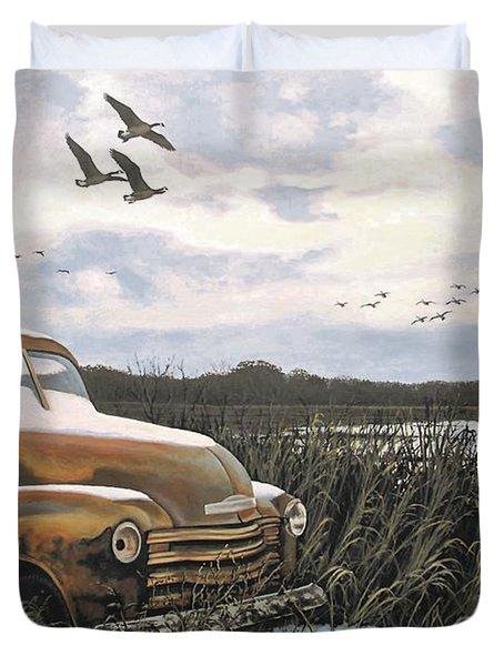 Grandpa's Old Truck Duvet Cover