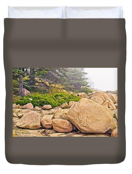 Granite Boulders Acadia Duvet Cover