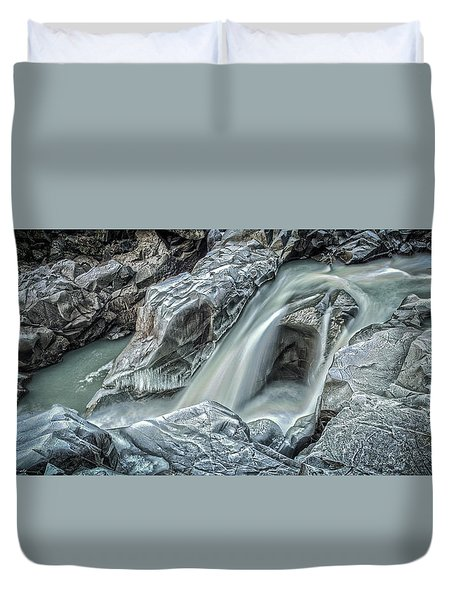 Granite Falls Blues Duvet Cover by Tony Locke
