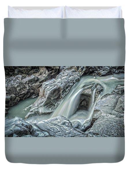 Granite Falls Blues Duvet Cover