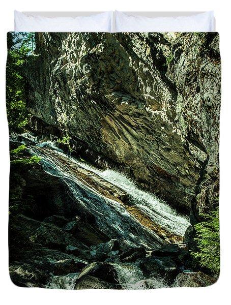 Granite Falls Of Ancient Cedars Duvet Cover