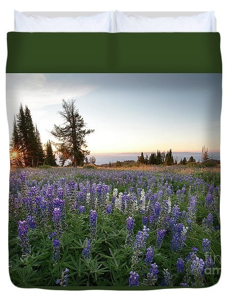 Granite Mountains Sunrise Duvet Cover by Idaho Scenic Images Linda Lantzy