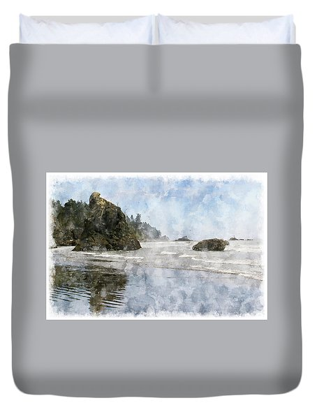 Granite Stacks Olympic Park Duvet Cover by Peter J Sucy