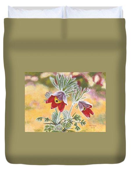Granny Flowers Duvet Cover