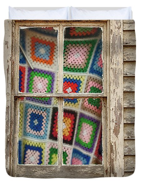 Granny Squares Duvet Cover