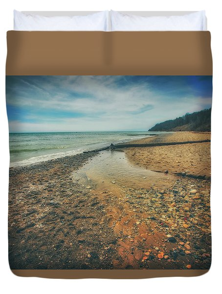 Grant Park - Lake Michigan Beach Duvet Cover by Jennifer Rondinelli Reilly - Fine Art Photography