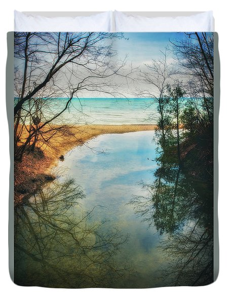 Grant Park - Lake Michigan Shoreline Duvet Cover by Jennifer Rondinelli Reilly - Fine Art Photography