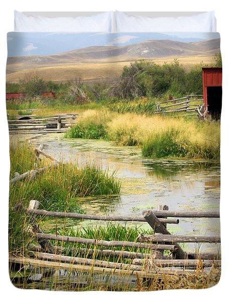 Grants Khors Ranch Vertical Duvet Cover by Marty Koch
