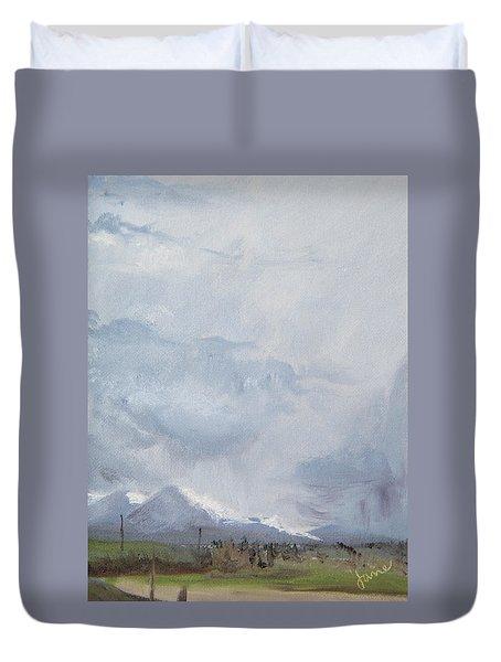 Grantsville Skies Duvet Cover by Jane Autry