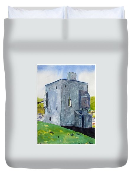 Granuaile's Castle Behind The Hill Duvet Cover