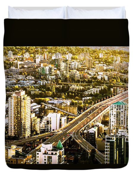 Granville Street Bridge Vancouver British Columbia Duvet Cover