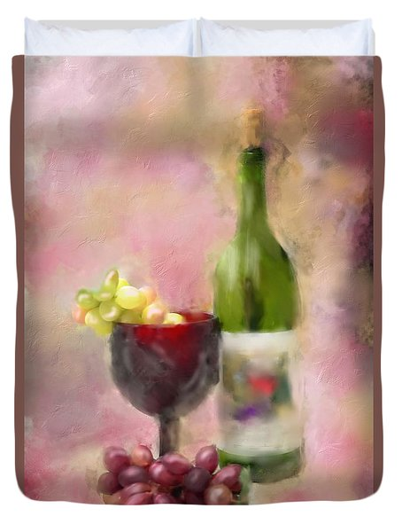 Duvet Cover featuring the photograph Grape Essence by Mary Timman