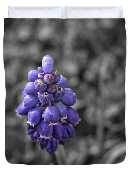 Grape Hyacinth Duvet Cover