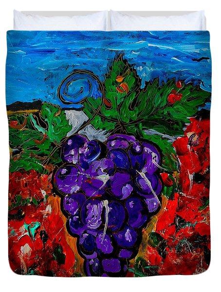 Grape Jazz Duvet Cover