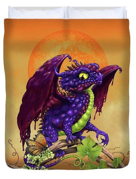 Grape Jelly Dragon Duvet Cover
