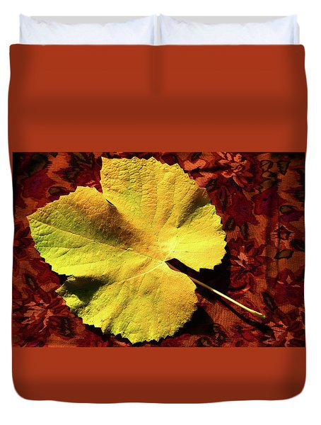 Duvet Cover featuring the photograph Grape Leaf by Nareeta Martin