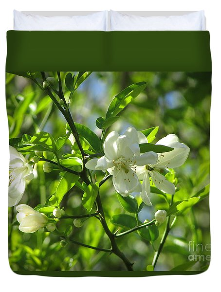 Grapefruit Bloom 238 Duvet Cover