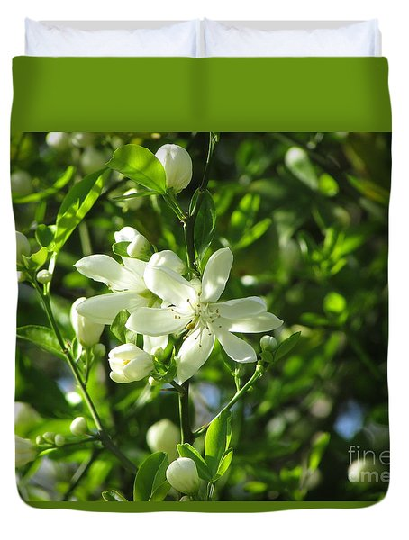 Grapefruit Blooms 239 Duvet Cover