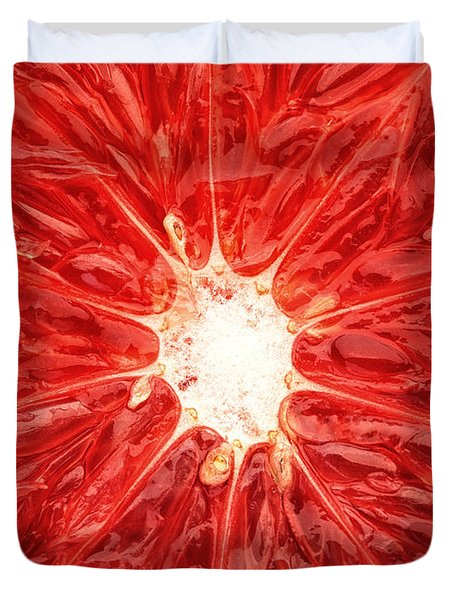 Grapefruit Close-up Duvet Cover