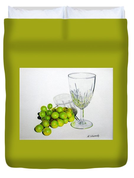 Grapes And Crystal Duvet Cover