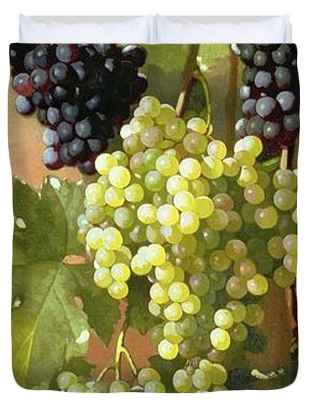 Grapes Duvet Cover by Edward Chalmers Leavitt