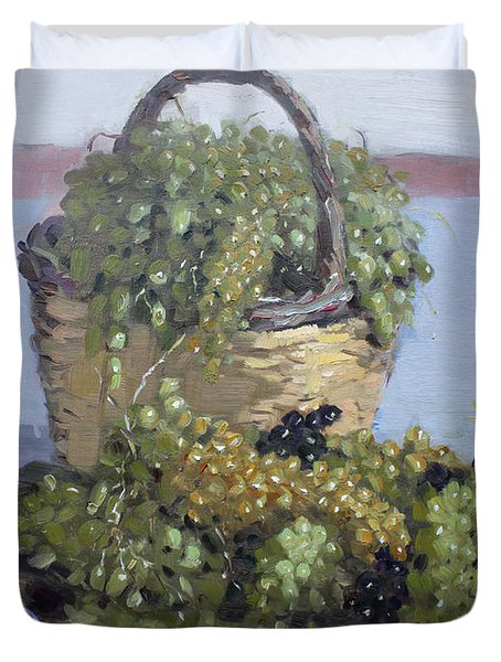 Grapes From Kostas Garden Duvet Cover