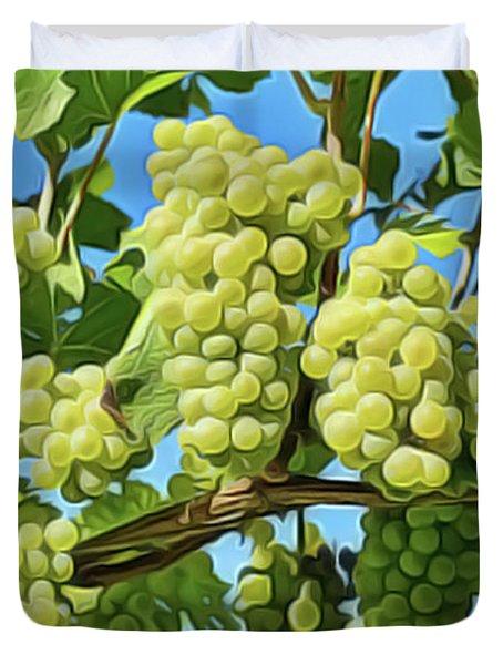 Grapes Not Wrath Duvet Cover