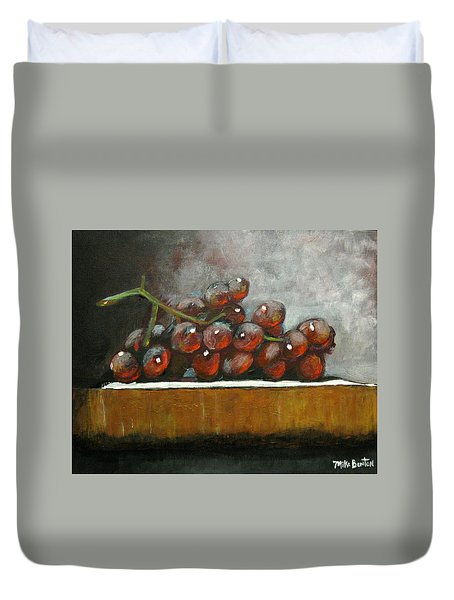 Grapes On A Block Duvet Cover
