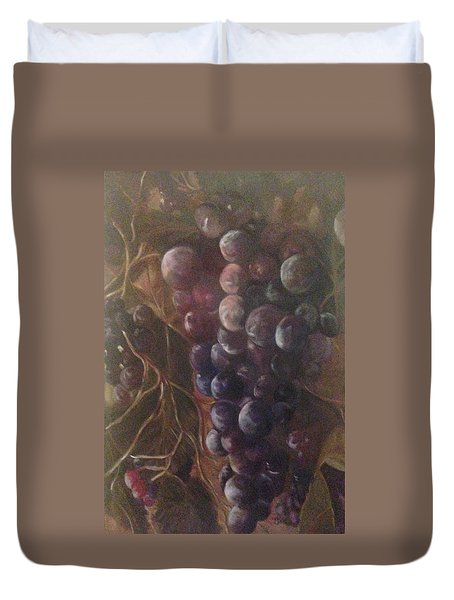 Grapes On A Vine Ca. Duvet Cover