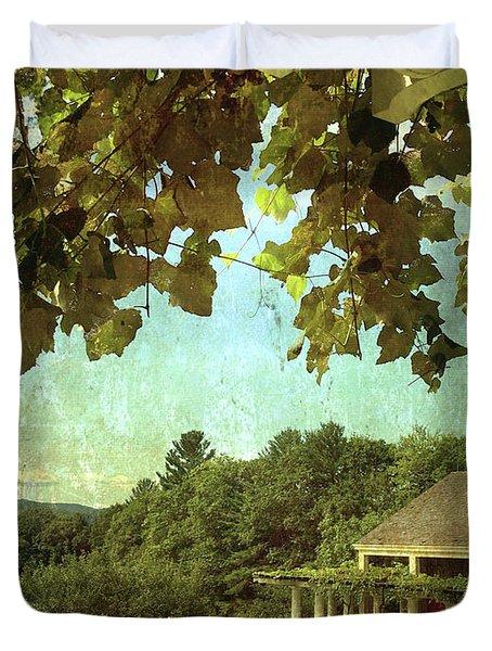 Grapes On Arbor  Duvet Cover