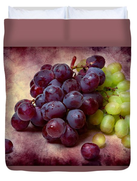 Grapes Red And Green Duvet Cover