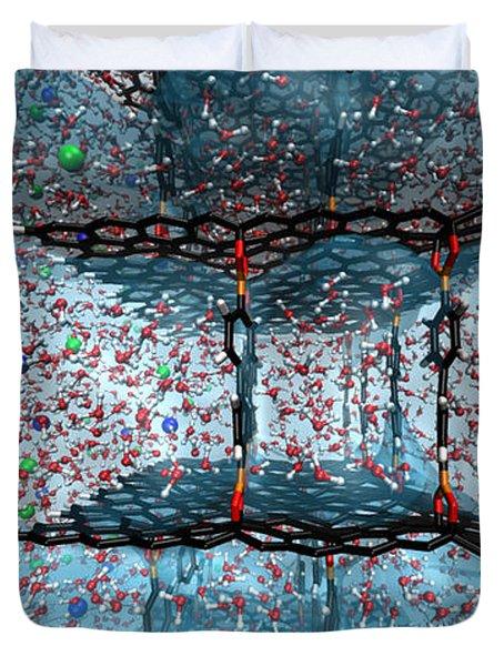 Graphene Oxide Nanotech Framework Duvet Cover