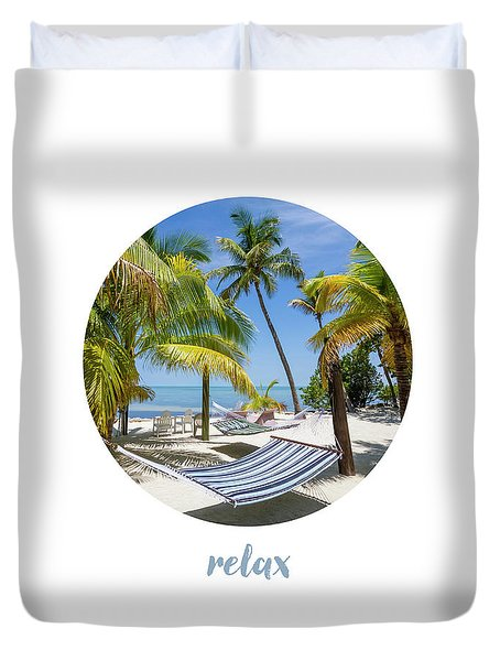 Graphic Art Relax Key West IIi Duvet Cover