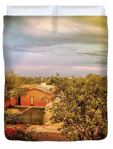 Duvet Cover featuring the photograph Graphic City by Beto Machado