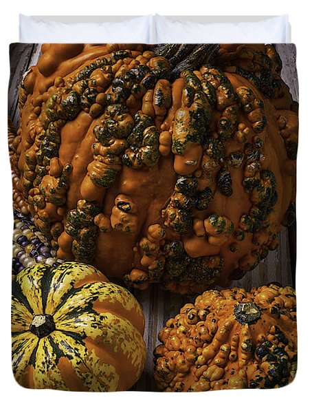Graphic Knuklehead Pumpkin Duvet Cover