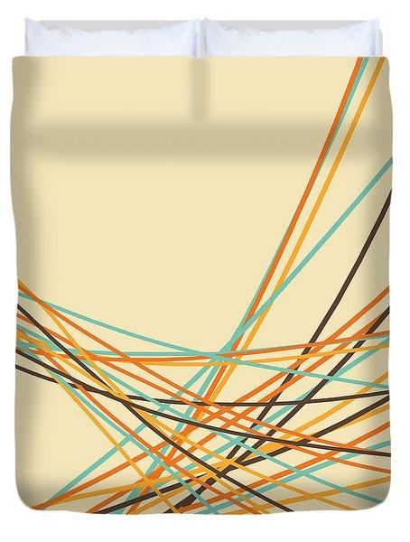 Graphic Line Pattern Duvet Cover