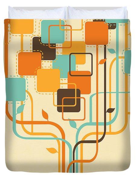 Graphic Tree Duvet Cover by Setsiri Silapasuwanchai