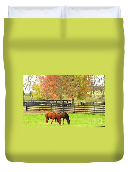 Grazing Time Duvet Cover