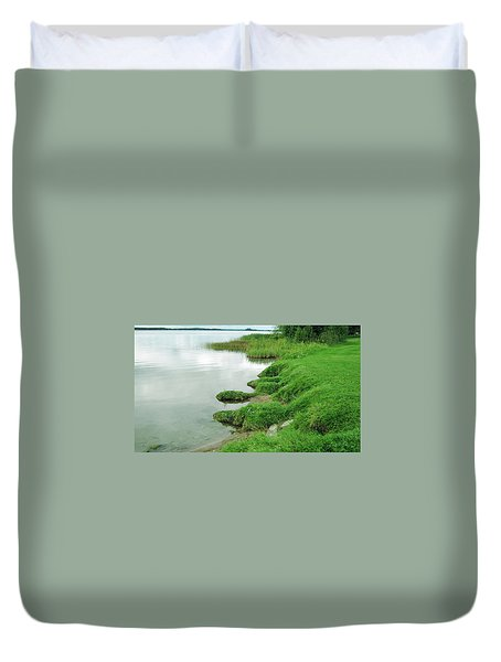 Grass And Water Duvet Cover