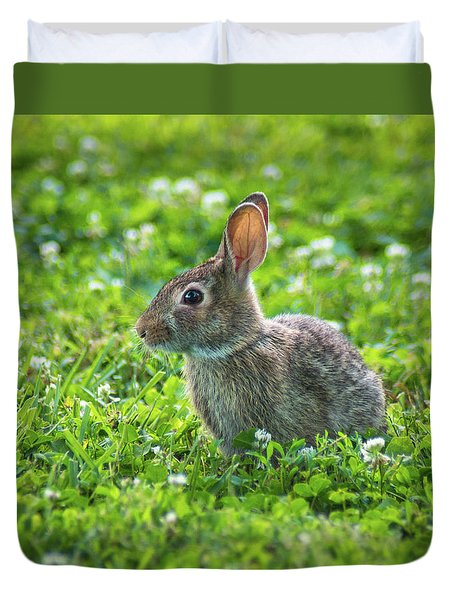 Duvet Cover featuring the photograph Grass Hoppers by Bill Pevlor