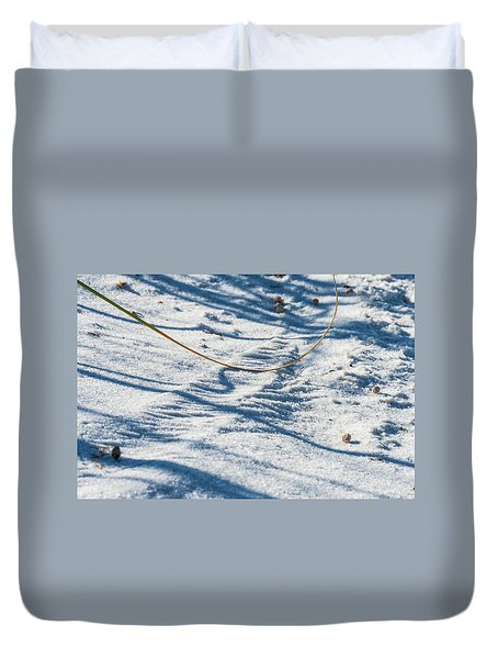 Grass Scapes In The Sand Duvet Cover