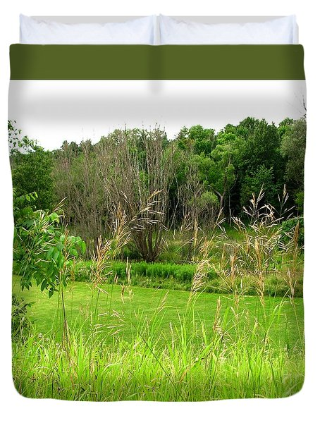 Swaying Grass Duvet Cover